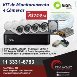 Kit De Seguranca 4 Cameras Hd 720p Gs0018 E Dvr 4ch Lite Hd