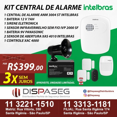 KIT CENTRAL DE ALARME INTELBRAS