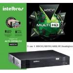 Kit de 4 Câmeras com resolução HD 720p Dvr 4 Canais Intelbras HDCVI