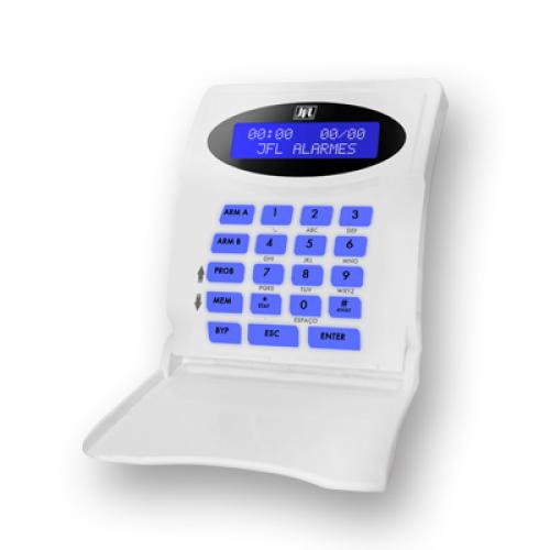 Teclado LCD com fio para centrais monitoráveis Active JFL TEC-300