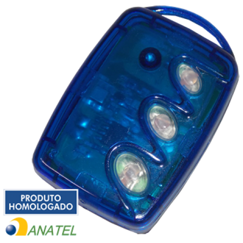 CONTROLE REMOTO TX 3T-B - 3 TECLAS (AZUL)
