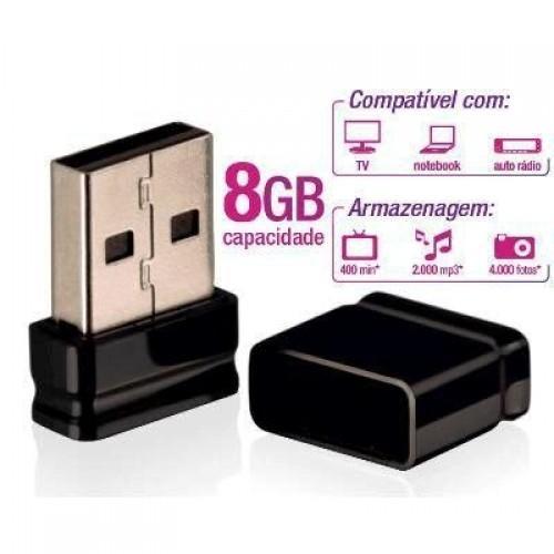 Pendrive Multilaser Nano Preto 8GB - PD053