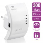 Repetidor Multilaser 300Mbps WPS - RE051