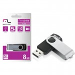 Pendrive Multilaser TWIST Preto 8GB - PD587
