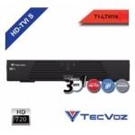 DVR Stand Alone Tríbrido 720P HDTVI Tecvoz T1-LTVI08 08 Canais