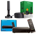 Kit Conversor Digital Full Hd E Antena Interna Intelbras