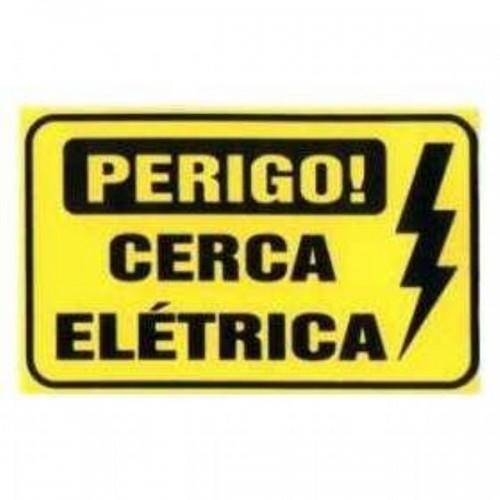 Placa Perigo Cerca Elétrica