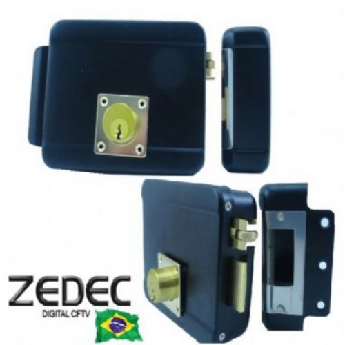 Fechadura Elétrica Zedec 12v Lingueta Reverssível abertura interna e externa